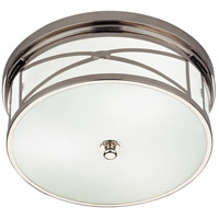 Robert Abbey S1985 Chase 3 Light 14 inch Polished Nickel Flushmount Ceiling Light