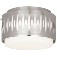 Robert Abbey S2088 Treble 3 Light 13 inch Antique Silver Flushmount Ceiling Light