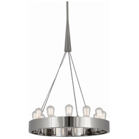 Robert Abbey S2090 Rico Espinet Candelaria 12 Light 15 inch Polished Nickel Chandelier Ceiling Light