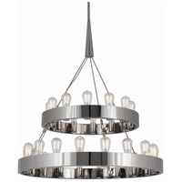 Robert Abbey S2099 Rico Espinet Candelaria 30 Light 15 inch Polished Nickel Chandelier Ceiling Light