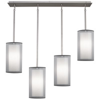 Robert Abbey Saturnia 4 Light Chandelier in Stainless Steel S2155