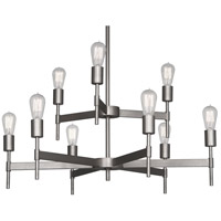 Robert Abbey Petriolo 9 Light Chandelier in Ss S2167