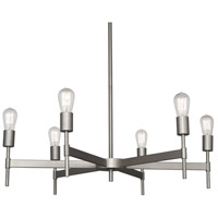 Petriolo 6 Light 34 inch Stainless Steel Chandelier Ceiling Light