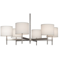 Robert Abbey S2188 Echo 6 Light 40 inch Stainless Steel Chandelier Ceiling Light