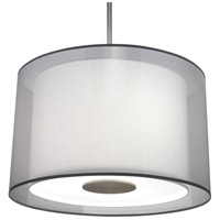 Robert Abbey S2193 Saturnia 3 Light 7 inch Stainless Steel Pendant Ceiling Light in Silver Transparent With Ascot White