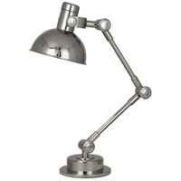 Robert Abbey S246 Rico Espinet Scout 22 inch 60 watt Polished Nickel Table Lamp Portable Light