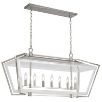 Casper 7 Light 40 inch Polished Nickel Chandelier Ceiling Light