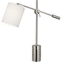 Robert Abbey S291 Campbell 27 inch 100 watt Polished Nickel Table Lamp Portable Light