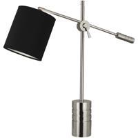 Robert Abbey S291B Campbell 27 inch 100 watt Polished Nickel Table Lamp Portable Light