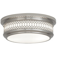 Robert Abbey S306 Williamsburg Tucker 2 Light 15 inch Polished Nickel Flushmount Ceiling Light