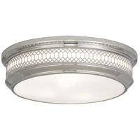 Robert Abbey S307 Williamsburg Tucker 3 Light 16 inch Polished Nickel Flushmount Ceiling Light