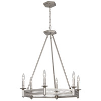 Robert Abbey S308 Williamsburg Tucker 6 Light 27 inch Polished Nickel Chandelier Ceiling Light