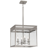 Williamsburg Tucker 4 Light 17 inch Polished Nickel Pendant Ceiling Light