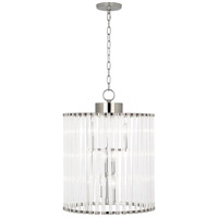 Robert Abbey S3344 Cole 6 Light 18 inch Polished Nickel Chandelier Ceiling Light thumb