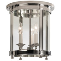 Robert Abbey S3363 Blake 3 Light 11 inch Polished Nickel Flush Mount Ceiling Light thumb