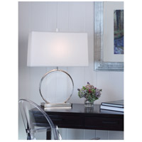 Robert Abbey S3380 Alice 28 inch 150 watt Polished Nickel with Lucite Table Lamp Portable Light S3380-GLAM.jpg thumb