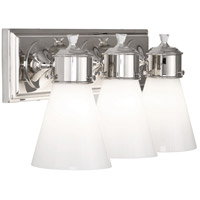 Williamsburg Blaikley 3 Light 20 inch Polished Nickel Wall Sconce Wall Light