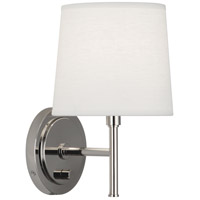 Robert Abbey S349 Bandit 1 Light 7 inch Polished Nickel Wall Sconce Wall Light