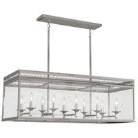 Williamsburg Tucker 10 Light 43 inch Polished Nickel Pendant Ceiling Light