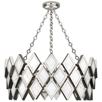 Robert Abbey S384 Edward 4 Light 15 inch Polished Nickel with White Marble Chandelier Ceiling Light