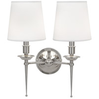 Robert Abbey S389 Cedric 2 Light 15 inch Polished Nickel Wall Sconce Wall Light thumb