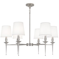 Robert Abbey S390 Cedric 6 Light 34 inch Polished Nickel Chandelier Ceiling Light thumb