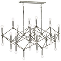 Robert Abbey S399 Jonathan Adler Milano 30 Light 44 inch Polished Nickel Chandelier Ceiling Light