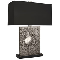 Robert Abbey S415B Goliath 27 inch 100 watt Antiqued Polished Nickel with White Rock Crystal Table Lamp Portable Light