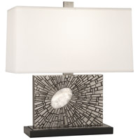 Robert Abbey S416 Goliath 20 inch 100 watt Antiqued Polished Nickel with White Rock Crystal Table Lamp Portable Light