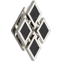 Robert Abbey S422 Edward 2 Light 8 inch Polished Nickel with Black Marble Wall Sconce Wall Light Black Marble Accents