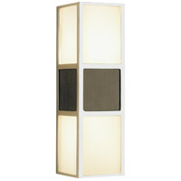 Robert Abbey S4238 Wonton 2 Light 4 inch Silver Plate with Weathered Ebonyed Wood Wall Sconce Wall Light in Weathered Eboneyed Wood