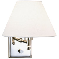 Robert Abbey S427X Meilleur 1 Light 8 inch Polished Nickel Wall Sconce Wall Light in Off-White Linen