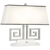 Robert Abbey S441 Jonathan Adler Mykonos 21 inch 60 watt Polished Nickel Table Lamp Portable Light in White Marble