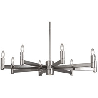 Robert Abbey S4500 Delany 9 Light 15 inch Polished Nickel Chandelier Ceiling Light