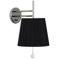 Robert Abbey S469B Annabelle 1 Light 10 inch Polished Nickel Wall Sconce Wall Light in Black String