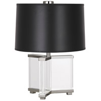 Robert Abbey S470B Fineas 16 inch 60 watt Clear Crystal with Polished Nickel Accent Lamp Portable Light in Black Paper