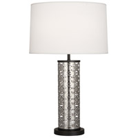 Robert Abbey S527 Williamsburg Etoile 30 inch 150 watt Antique Silver with Deep Patina Bronze Table Lamp Portable Light