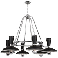 Robert Abbey S565 Vortex 6 Light 15 inch Polished Nickel Chandelier Ceiling Light