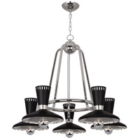 Robert Abbey S568 Vortex 5 Light 15 inch Polished Nickel Chandelier Ceiling Light