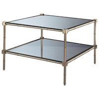 Robert Abbey Meurice Coffee Table in Lnn and Glass S658