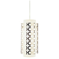 Robert Abbey S663 Jonathan Adler Parker 1 Light 7 inch Polished Nickel Pendant Ceiling Light