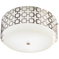 Jonathan Adler Parker 3 Light 15 inch Polished Nickel Flush Mount Ceiling Light