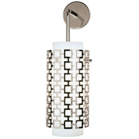 Robert Abbey S667 Jonathan Adler Parker 1 Light 7 inch Polished Nickel Wall Sconce Wall Light photo thumbnail