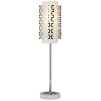 Jonathan Adler Parker 30 inch 60 watt Polished Nickel Table Lamp Portable Light