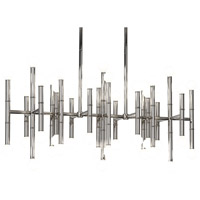 Robert Abbey S687 Jonathan Adler Meurice 42 Light 38 inch Polished Nickel Chandelier Ceiling Light