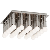 Robert Abbey S689 Jonathan Adler Meurice 25 Light 13 inch Polished Nickel Flushmount Ceiling Light