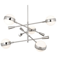Jonathan Adler Ipanema 5 Light 44 inch Polished Nickel Chandelier Ceiling Light