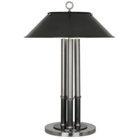 Robert Abbey S702 Aaron 26 inch 40 watt Dark Antique Nickel with Deep Patina Bronze Table Lamp Portable Light