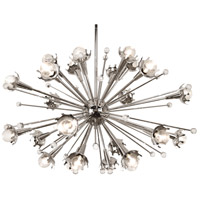 Jonathan Adler Sputnik 24 Light 34 inch Polished Nickel with Crystal Chandelier Ceiling Light