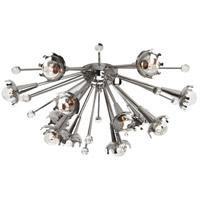 Jonathan Adler Sputnik 12 Light 24 inch Polished Nickel with Crystal Wall Sconce Wall Light